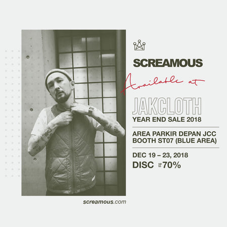 SCREAMOUS Jakcloth Year End Sale 2018.