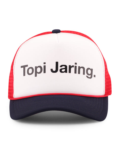 Topi Jaring - Navy Red