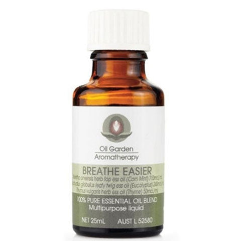 Oil Garden Aromatherapy Breathe Easier 25ml