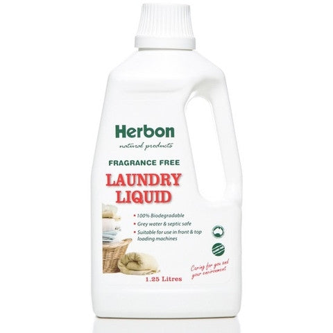 Herbon Laundry Liquid Fragrance Free 1.25L