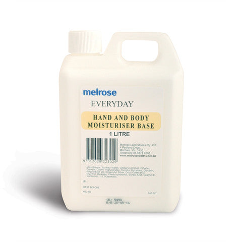 Melrose Botanicals Everyday Moisturiser Base 1L