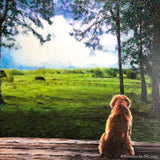 Cocker Spaniel in Landscape is Finished