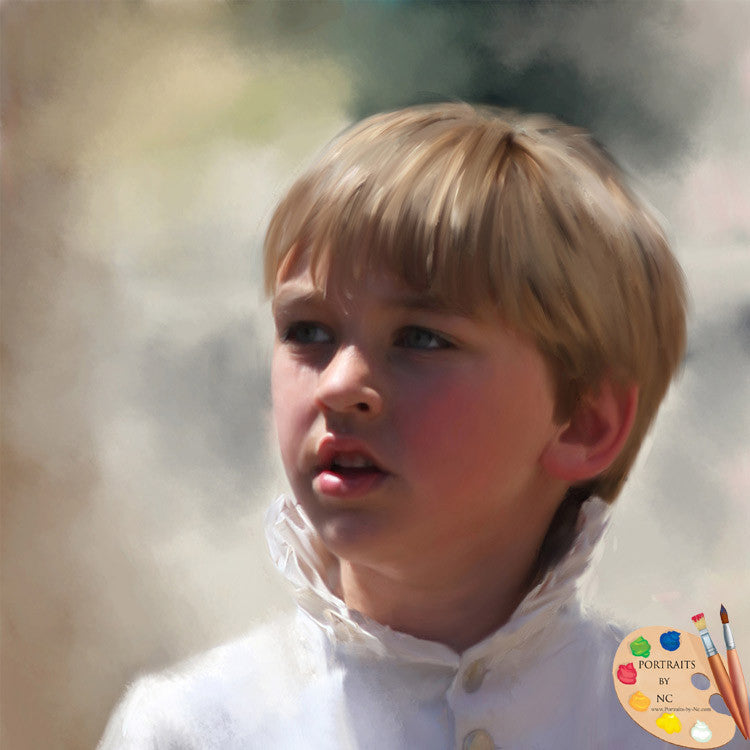 Stately Custom Painted Child Portraits