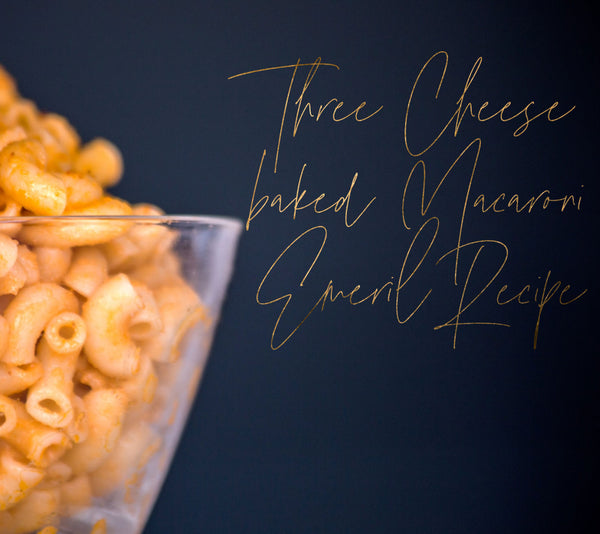 Three Cheese baked Macaroni Emeril Recipe
