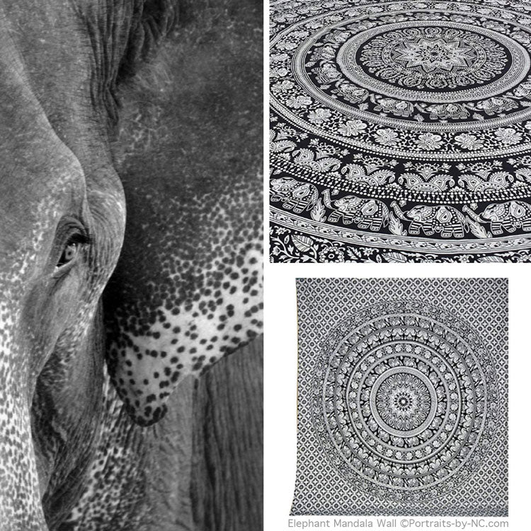 Collecting all Things Elephant Related - Elephant Mandala Tapestry