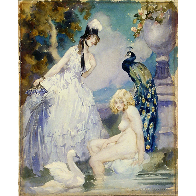 Swans and Peacocks by Norman Lindsay