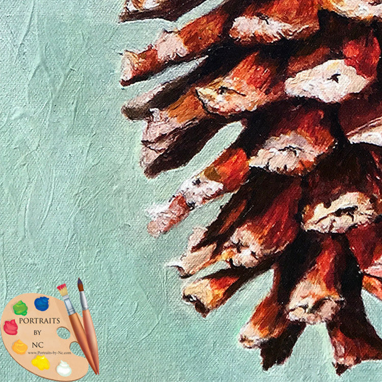 Pine Cone Painting