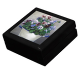 Gift for Gardeners - Keepsake Box with Pansies