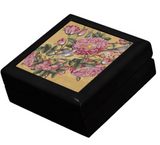Camellias and Birds Keepsake Box