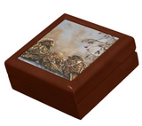 Keepsake Box with Sparrows