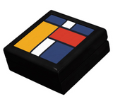 Mondrian Inspired Keepsake Box