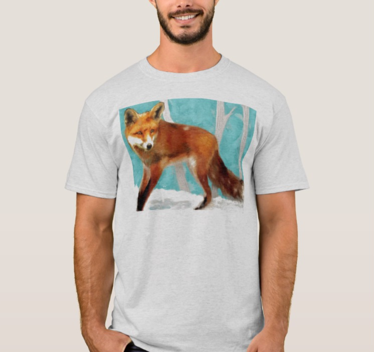 Men T- Shirts with Fox Design