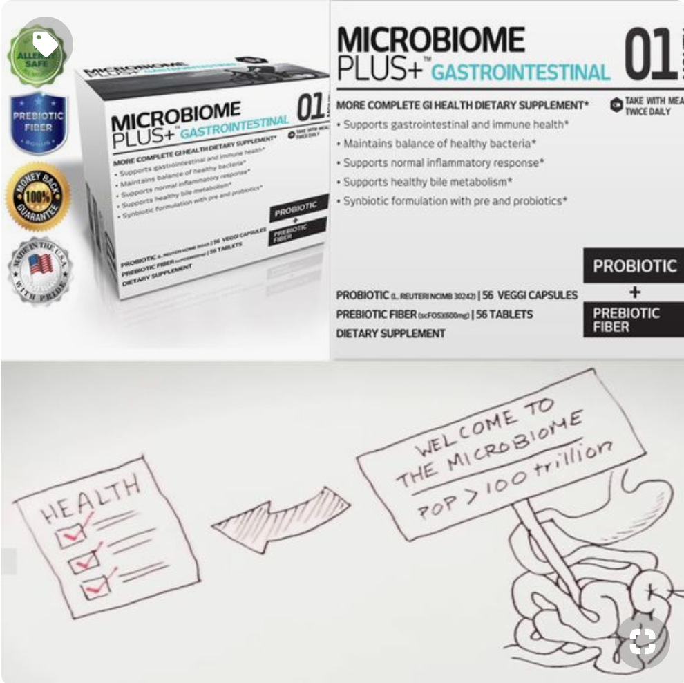 Microbiome Plus GI for proper Gut Health