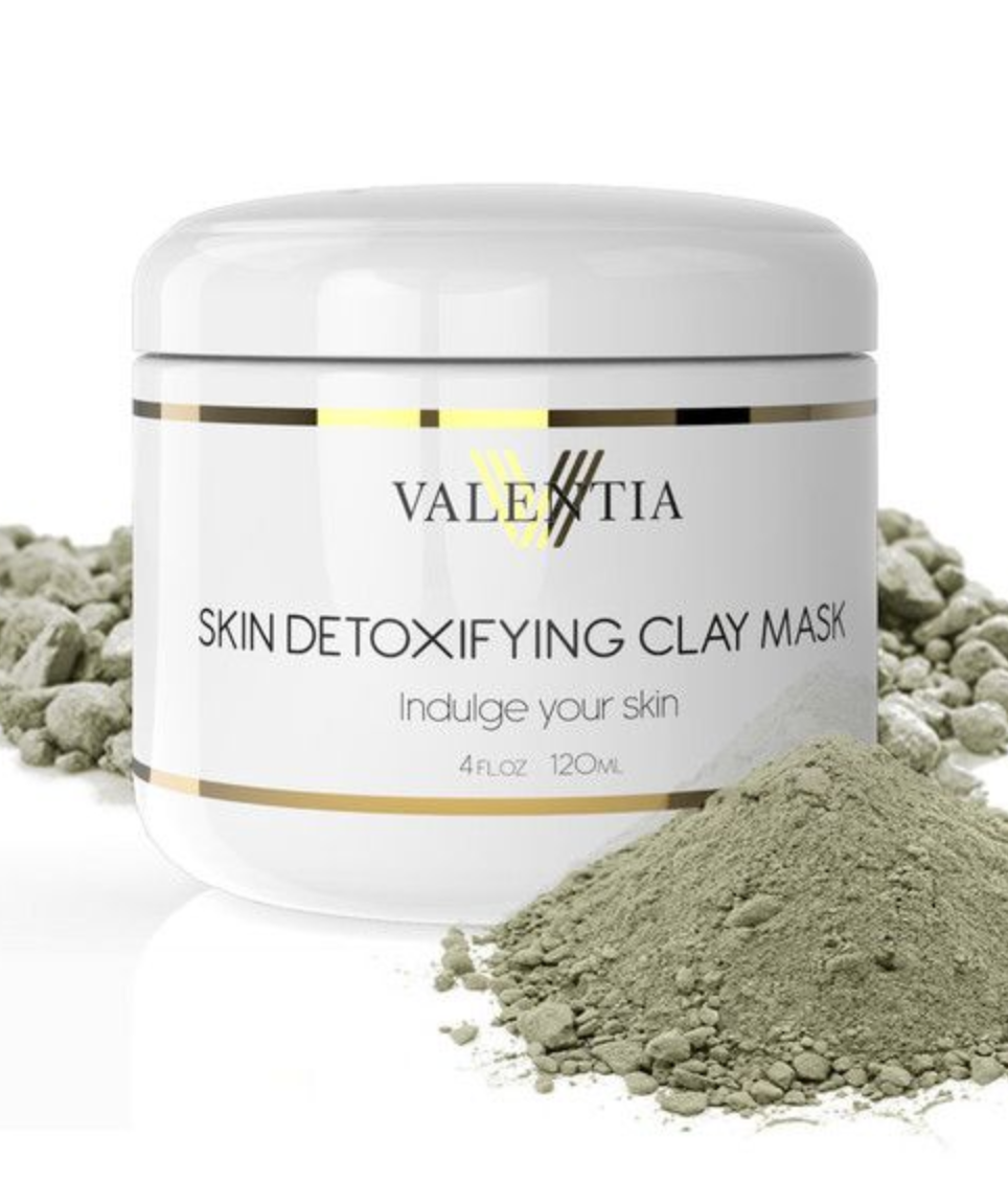 Valentia Skin Detoxifying Clay Mask and Eternal Youth Exfoliating Scrub.