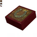 New Lucky Horseshoe Keepsake Jewelry Box