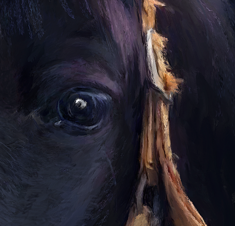 Painting of a Tennessee Walker Horse