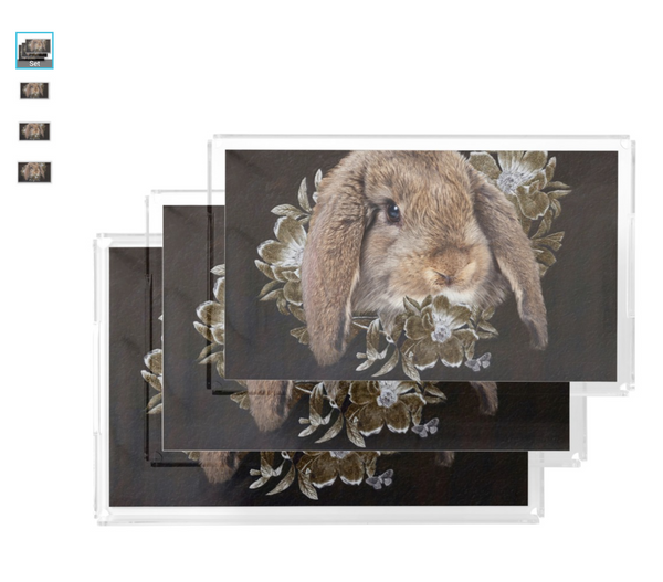 Easter Serving Tray with Easter Rabbit Design