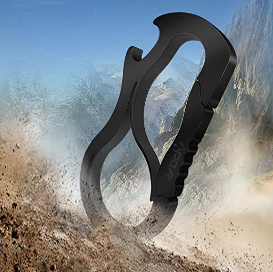 Stainless Steel Carabiner Key Chain - Multi Purpose Tool