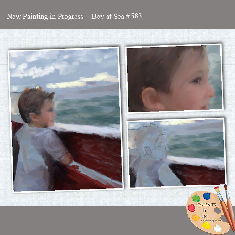 Boy At Sea 583 Painting in Progress