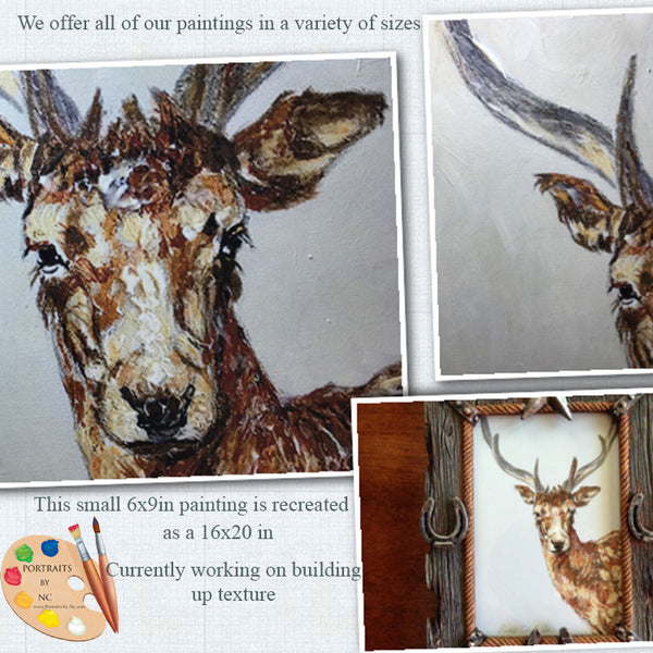 Wildlife Art Buck Painting