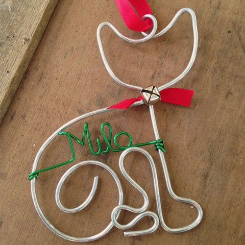 Personalized Cat Wire Ornaments