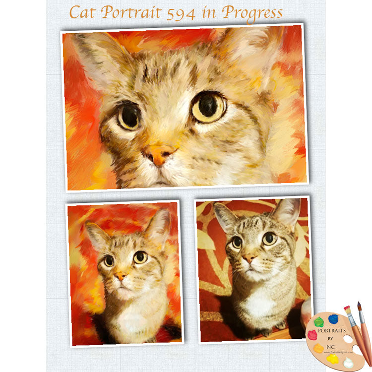 Powerful Cat Painting 594