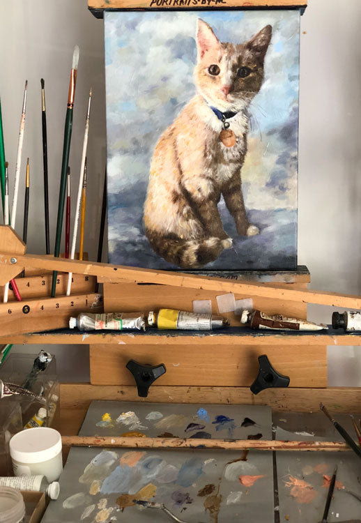 Work Continues on Cat Portrait 648