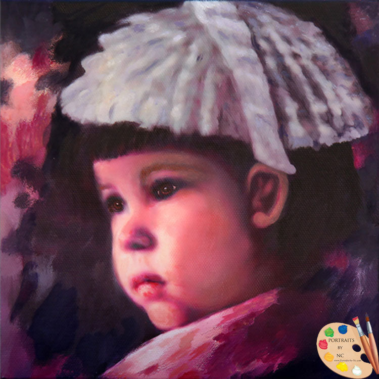 Child Painting Toddler Portrait 596