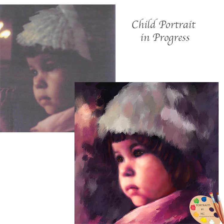 Child Portrait in Progress 596