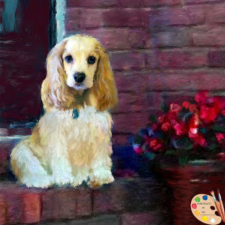 Cocker Spaniel Custom Painted Portrait 520
