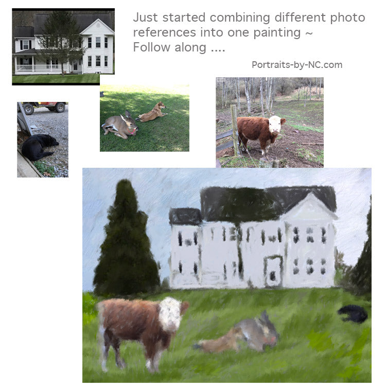 Combining Photos to create one painting