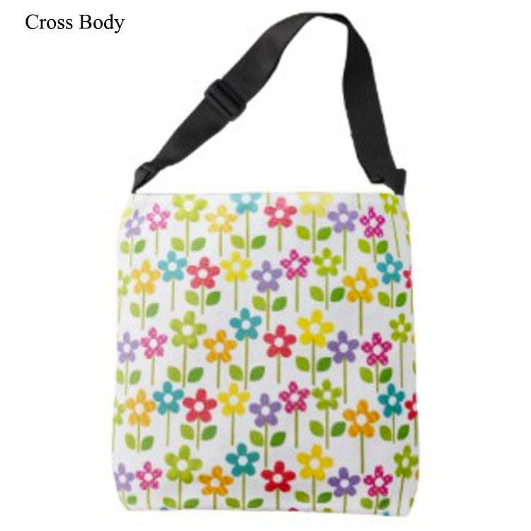 All-Over-Print Cross Body Bag with Cute Flower Design