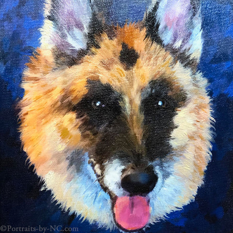 A New German Shepherd Painting