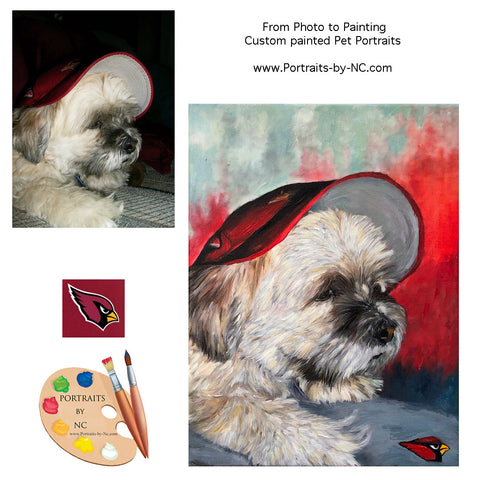 Custom Portrait of an NFL Arizona Cardinals Fan