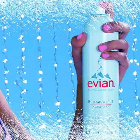 How to look your best on a hot summer day with Brumisateur, Evian Facial Spray