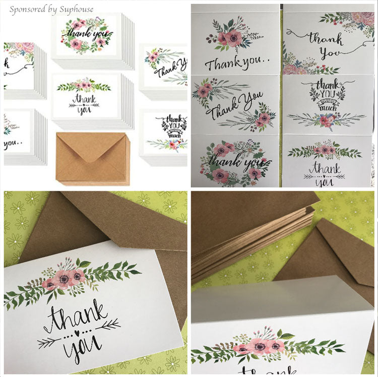 Flower Thank You Cards