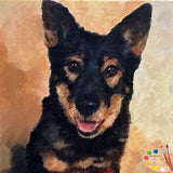 German Shepherd Custom Pet Portrait