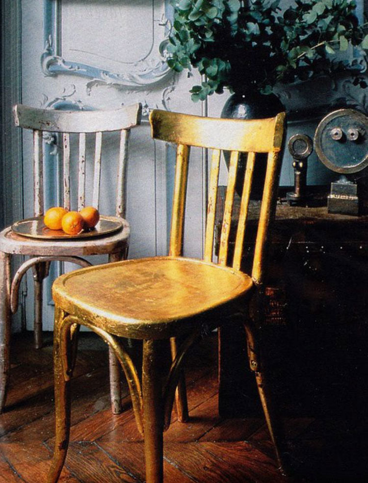 How to Apply Gold Leaf to a Chair
