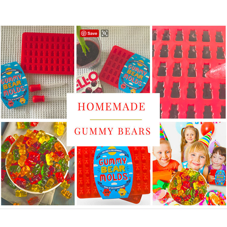 Easy Homemade Jello Gummy Bear Recipe