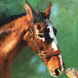 Horse Portrait in Oil 591