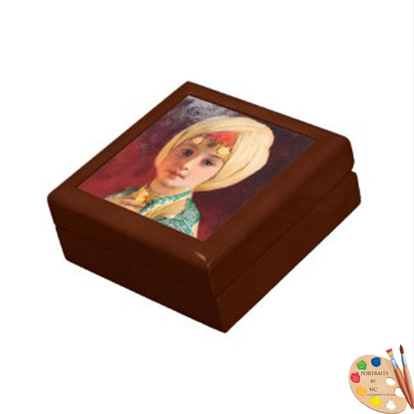 Keepsake Jewelry Box with Child Painting after Carl Haag