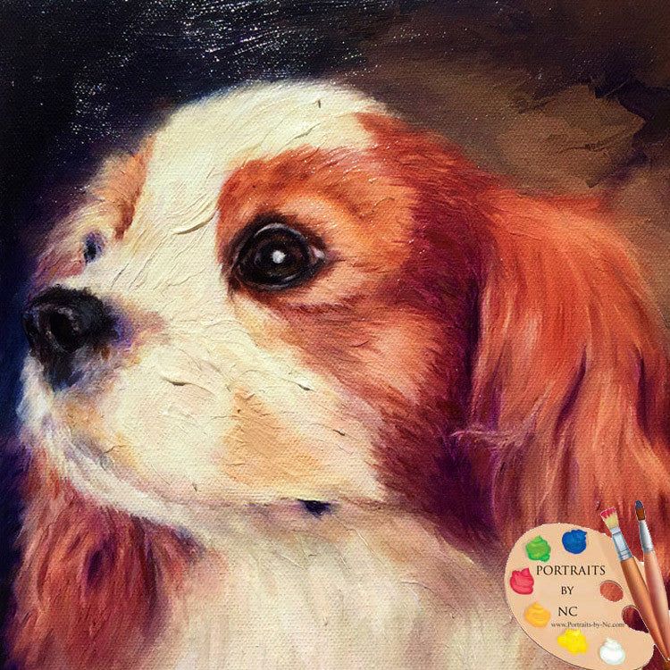Cavalier King Charles Custom Painted Portraits