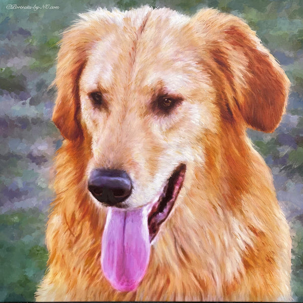 Golden Retriever Custom Portrait Commission