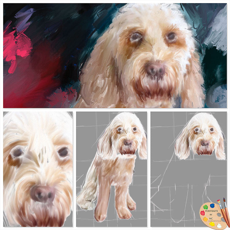Labradoodle Painting Process