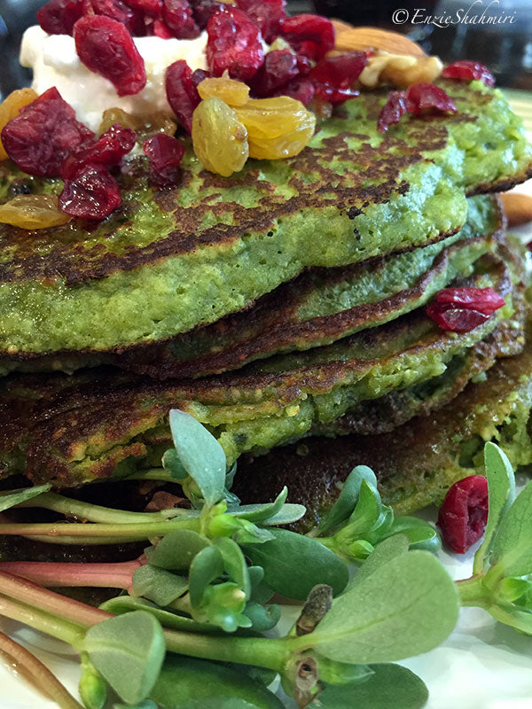 Gluten Free Pancake Recipe Made with Matcha Green Tea