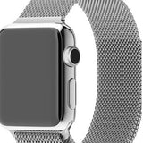 Apple Watch Band, Xnucol Cool Fully Magnetic Closure Clasp Mesh Band Milanese Loop Stainless Steel Bracelet Strap for Apple iWatch Sport & Edition Silver
