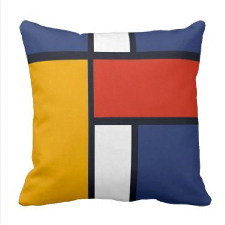 Mondrian Inspired Decorative Pillows