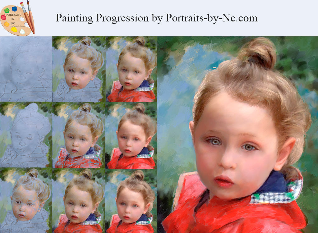 A Painting's Progression