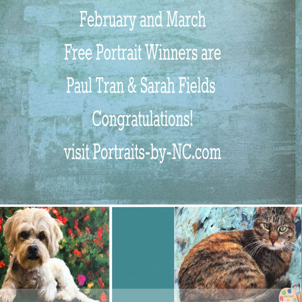 February and March Free Portrait Winners Announcement