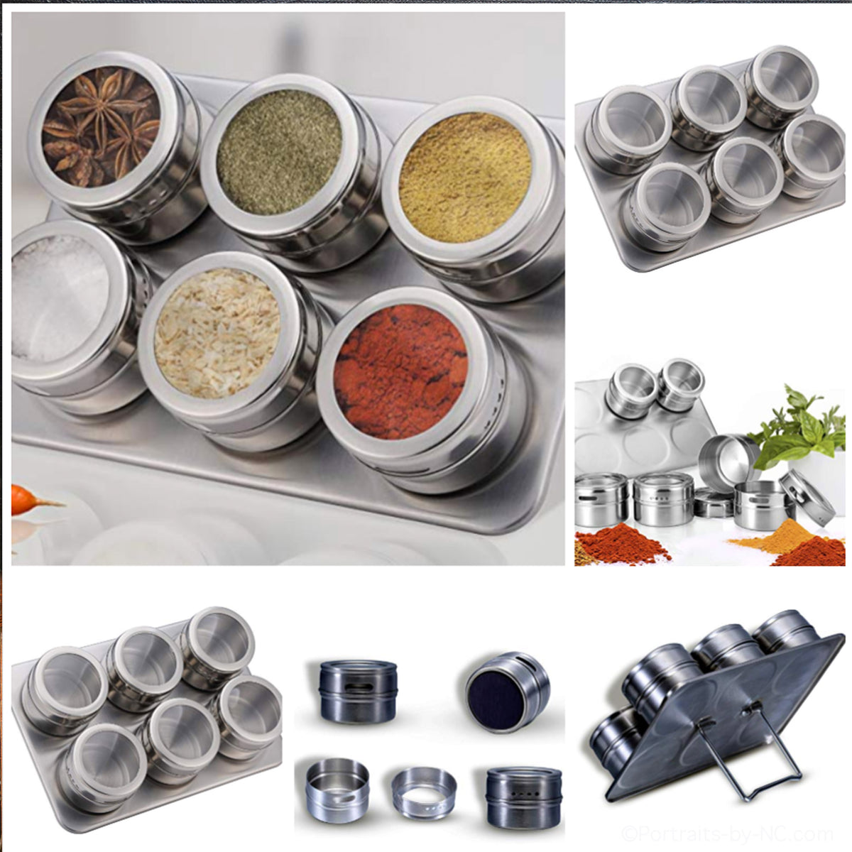 Stainless Steel Magnetic Containers and Rack
